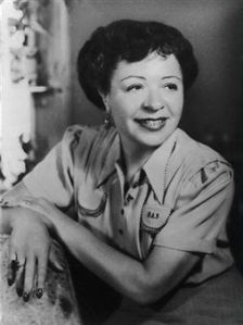 "Pearl ""Polly"" Adler (April 16, 1900 – June 11, 1962), American madam and author, circa 1953."