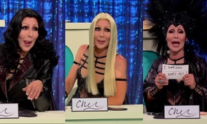 "Drag queen extraordinaire Chad Michaels impersonating Cher in the 'Snatch Game"" episode in RuPaul's Drag Race's season 4"