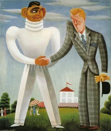 Miguel Covarrubias Caricature · Clark Gable & Edward, Prince of Wales (Vanity Fair, November 1932)