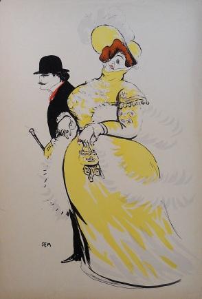Sem (George Goursat) ,Madame of some amplitude, Paris 1910,